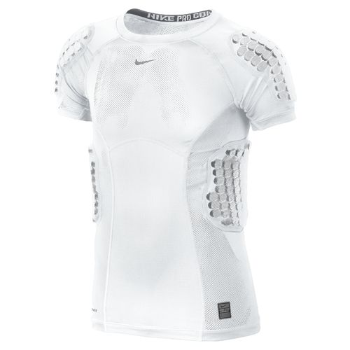 Nike Youth Pro Combat Hyperstrong Compression Vis Football Rib Top - view number 1