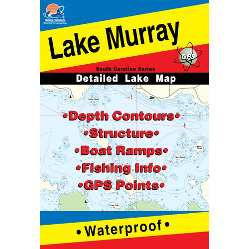 Image for Fishing Hot Spots Lake Murray Fishing Map from Academy
