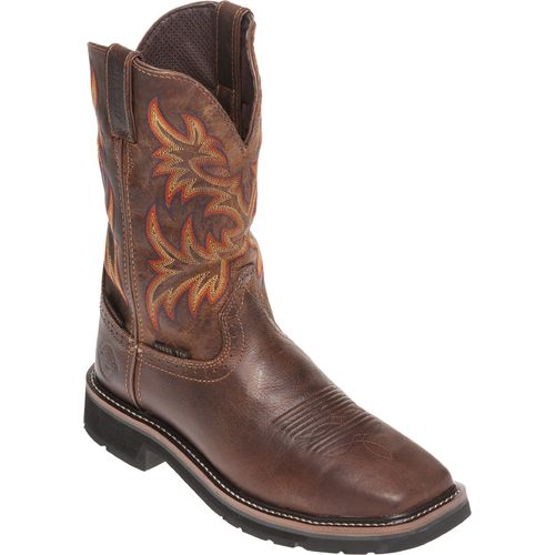 ... Justin Menu0027s Rugged Cowhide Waterproof Steel Toe Western Work Boots    View Number ...