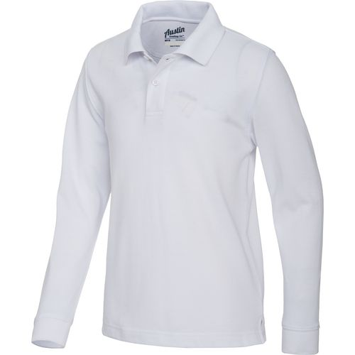 Image for Austin Trading Co.™ Boys' Long Sleeve Piqué Polo Uniform Shirt from Academy