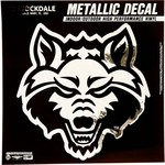 "Stockdale Arkansas State University 6"" x 6"" Metallic Vinyl Die-Cut Decal"