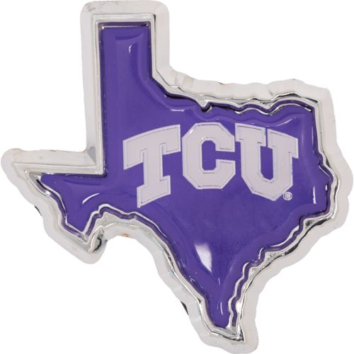 Stockdale Texas Christian University Chrome Metal Auto Emblem