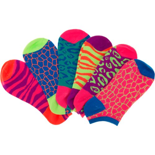 BCG Girls' Bright Animal Print No-Show Socks - view number 3