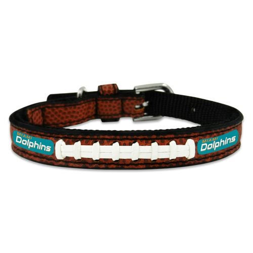 GameWear Miami Dolphins Classic Leather Football Collar