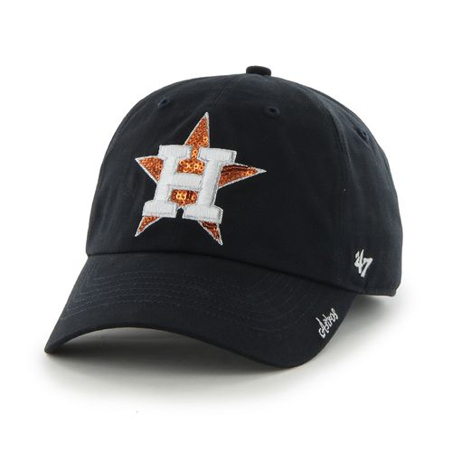 '47 Women's Houston Astros Sparkle Team Color Cleanup Cap