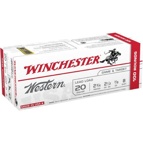 Winchester Western Target and Field Load 20 Gauge 8 Shotshells