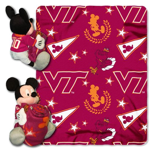 The Northwest Company Virginia Tech Mickey Mouse Hugger and Fleece Throw Set