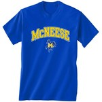 New World Graphics Men's McNeese State University Arch Mascot T-shirt