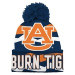 NCAA Boys' Auburn University Flex GEN2 Cuffed Knit Cap with Pom