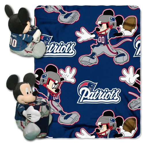 The Northwest Company New England Patriots Minnie Mouse Hugger and Fleece Throw Set