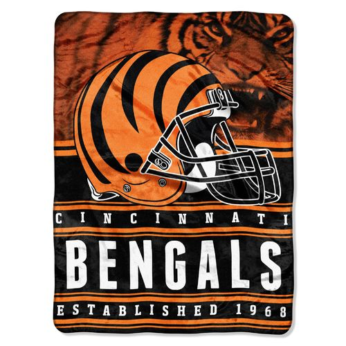 The Northwest Company Cincinnati Bengals Stacked Silk Touch Throw