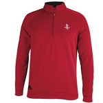 adidas Adults' Houston Rockets 3-Stripes Piped 1/4 Zip Pullover