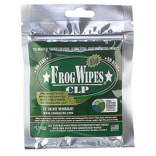 FrogLube CLP Cleaner and Lubricant Wipes 5-Pack - view number 1