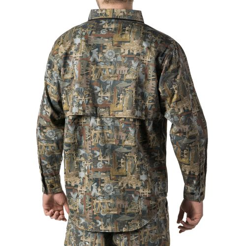 Walls Men's Oilfield Camo Cape Back Long Sleeve Shirt - view number 4