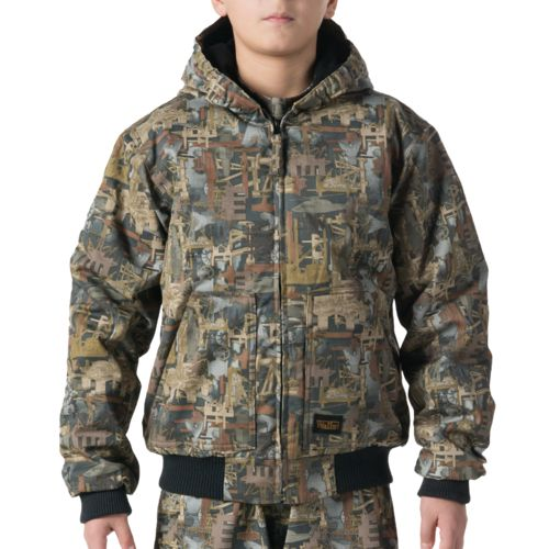 Walls Kids' Oilfield Camo Insulated Hooded Jacket - view number 1