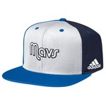 adidas Men's Dallas Mavericks Flat Brim Snapback Cap