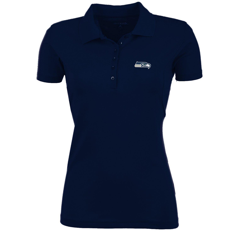 Antigua Women's Seattle Seahawks Pique Xtra-Lite Polo Shirt