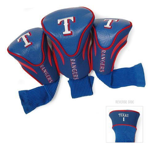 Team Golf Texas Rangers Contour Sock Head Covers 3-Pack
