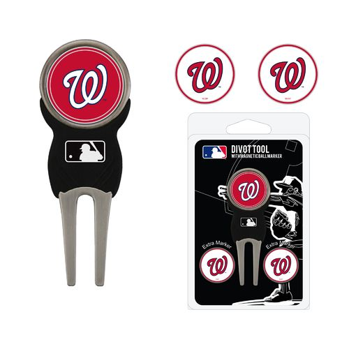 Team Golf Washington Nationals Divot Tool and Ball Marker Set - view number 1