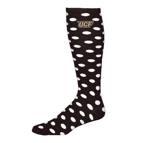 Atlanta Hosiery Company Women's University of Central Florida Polka-Dot Knee-High Socks