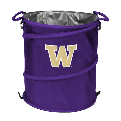 Logo™ University of Washington Collapsible 3-in-1 Cooler/Hamper/Wastebasket - view number 1