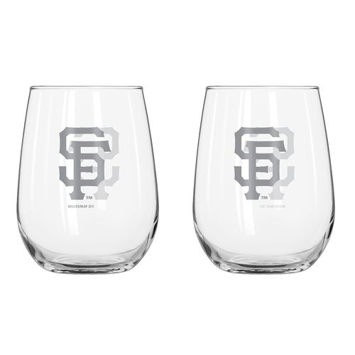 Boelter Brands San Francisco Giants 16 oz. Curved Beverage Glasses 2-Pack