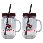 Boelter Brands Arizona Cardinals 20 oz. Handled Straw Tumblers 2-Pack