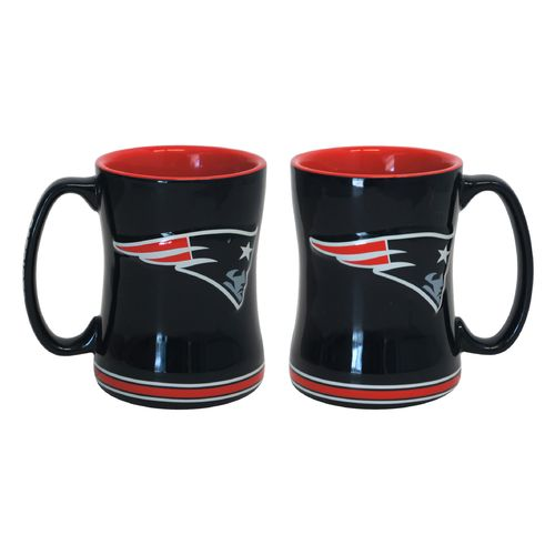 Boelter Brands New England Patriots 14 oz. Relief Mugs 2-Pack
