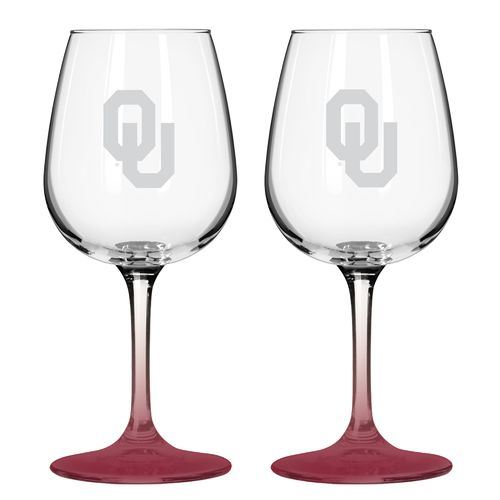Boelter Brands University of Oklahoma 12 oz. Wine Glasses 2-Pack