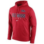 Nike Men's University of Mississippi Circuit Perf Fleece Hoodie