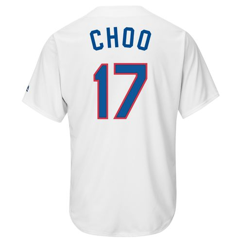 Majestic Men's Texas Rangers Shin-Soo Choo #17 Cooperstown Cool Base Replica Jersey