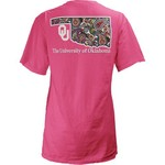 Three Squared Juniors' University of Oklahoma Preppy Paisley T-shirt