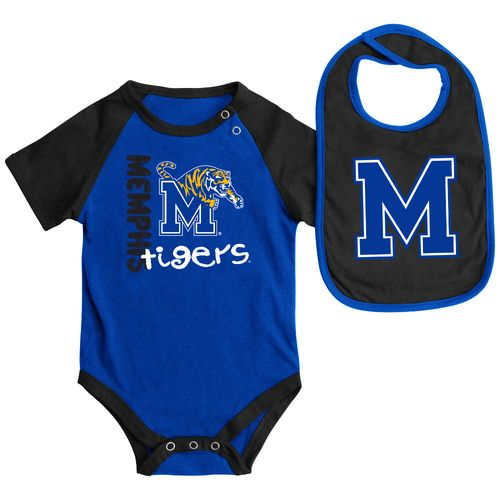 Colosseum Athletics Infants' University of Memphis Rookie Onesie and Bib Set