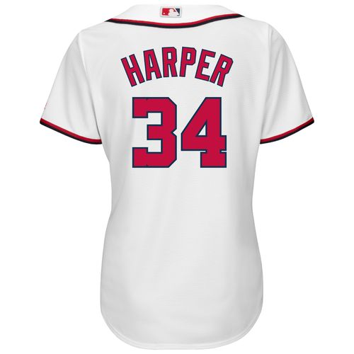 Majestic Women's Washington Nationals Bryce Harper #34 Cool Base Replica Home Jersey