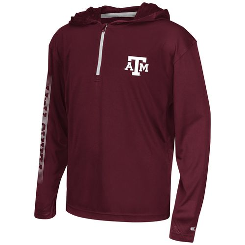 Colosseum Athletics™ Boys' Texas A&M University Sleet 1/4 Zip Hoodie Windshirt