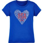 Under Armour® Girls' Heart USA T-shirt