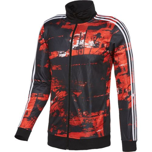 adidas™ Men's Essentials Elemental Raw Print Track Jacket