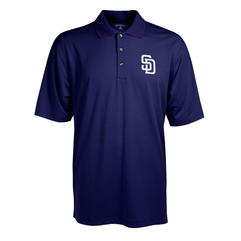 Antigua Men's San Diego Padres Phoenix Pointelle Polo Shirt