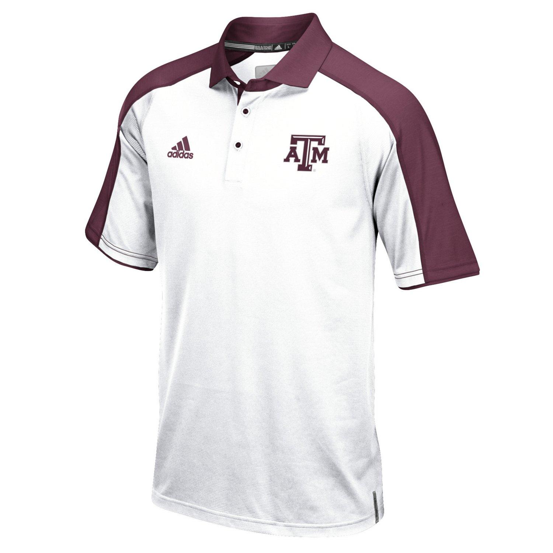 adidas™ Men's Texas A&M University Sideline Polo Shirt