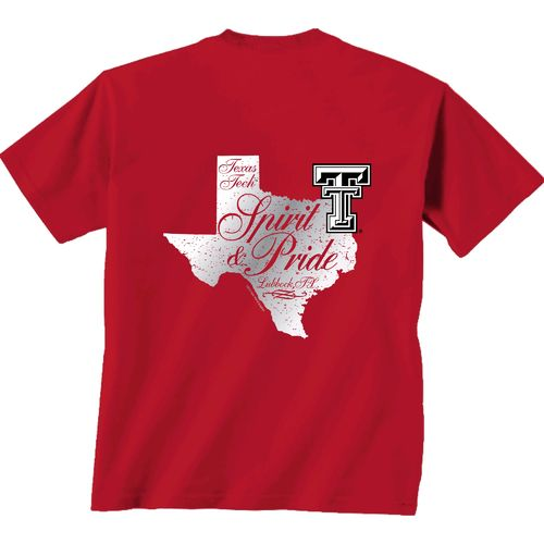 New World Graphics Women's Texas Tech University Silver State Distress T-shirt