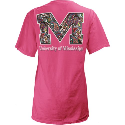 Three Squared Juniors' University of Mississippi Preppy Paisley T-shirt