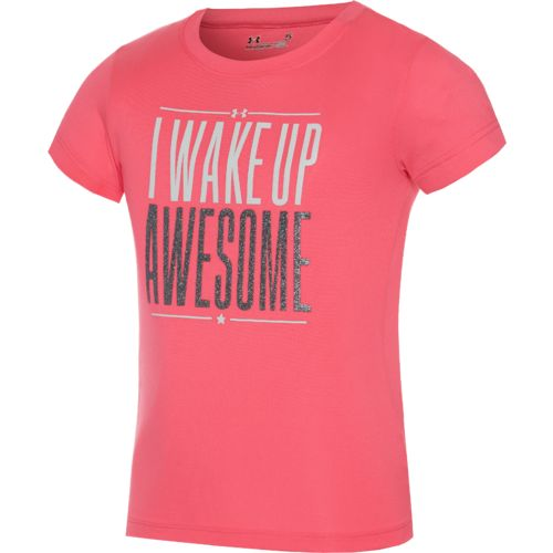 Under Armour® Girls' I Wake Up Awesome T-shirt