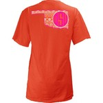 Three Squared Juniors' Oklahoma State University Moonface Vee T-shirt