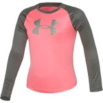 Under Armour® Girls' Checkpoint Shimmer Raglan Long Sleeve T-shirt