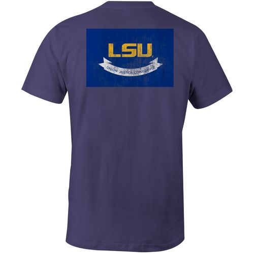 Image One Men's Louisiana State University State Flag Comfort Color T-shirt