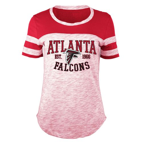 5th & Ocean Clothing Juniors' Atlanta Falcons Space Dye Fan T-shirt