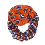 ZooZatz Women's University of Texas at San Antonio Tartan Infinity Scarf