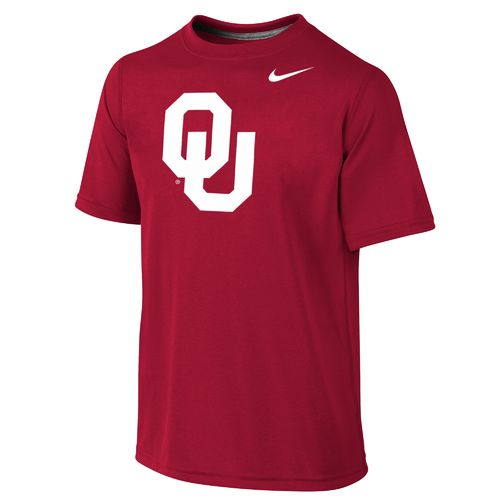 Nike™ Boys' University of Oklahoma Dri-FIT Legend Short Sleeve T-shirt