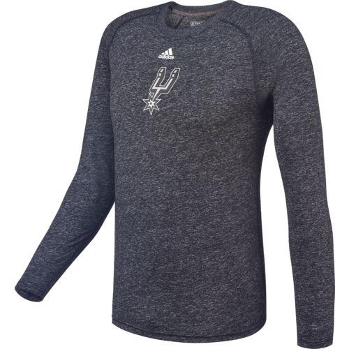 adidas™ Men's San Antonio Spurs Team Logo Long Sleeve T-shirt