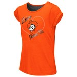Colosseum Athletics™ Girls' Oklahoma State University Baywatch Split Back T-shirt - view number 1